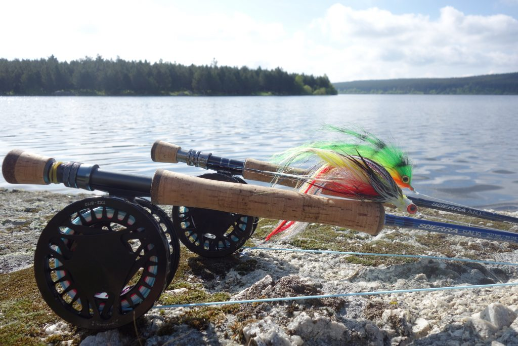 peche mouche lancer streamer double traction